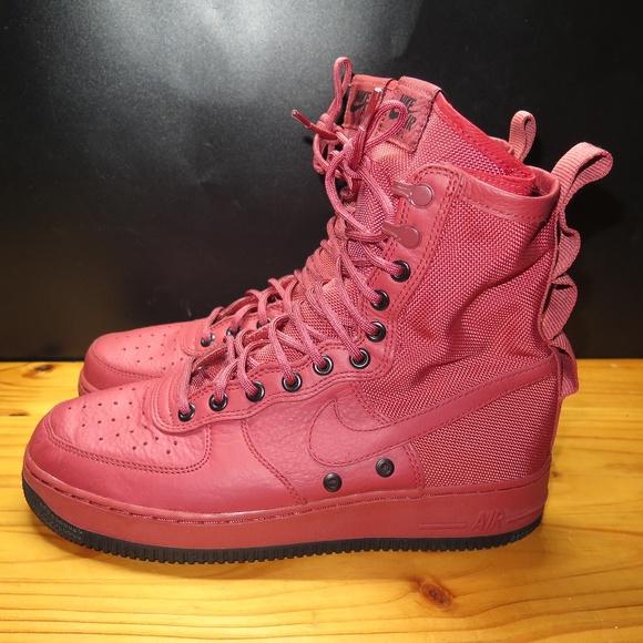 site réputé 5b236 6107a Womens Nike SF AF1 Special Field Red Black Maroon